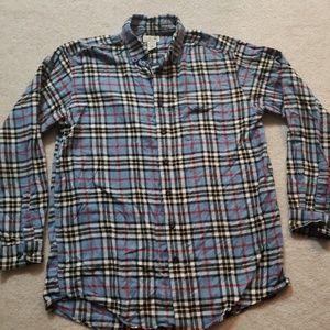 L.L Bean Flannel Plaid Button Down Shirt size L T